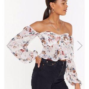 Nasty Gal floral top